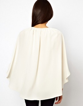 Image 2 ofASOS Top With Soft Cape Sleeve