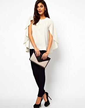 Image 4 ofASOS Top With Soft Cape Sleeve
