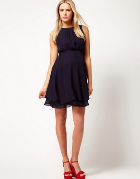 Image 4 ofASOS Maternity Dress With Double Layer