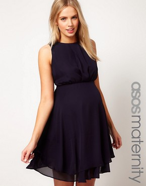 Image 1 ofASOS Maternity Dress With Double Layer