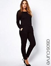 ASOS CURVE Onesie With Mesh Detail