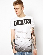 Friend or Faux T-Shirt with Reef Front &amp; Back Print