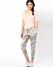Paul by Paul Smith Jogging Pants in Collage Floral Print