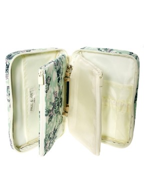 Image 3 ofPaul &amp; Joe Green Floral Print Cosmetic Bag