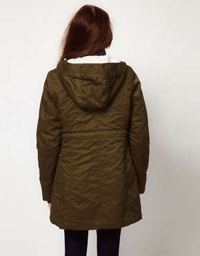 Image 2 ofVila Faux Fur Lined Hooded Parka