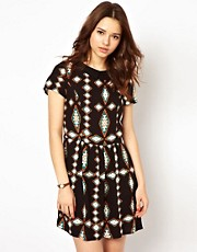 River Island Collar Waisted Dress
