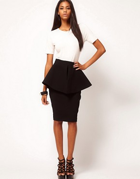 Image 1 ofAqua Bergman Structured Peplum Skirt