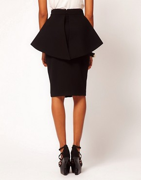 Image 2 ofAqua Bergman Structured Peplum Skirt