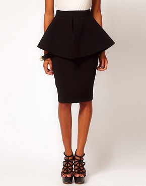 Image 4 ofAqua Bergman Structured Peplum Skirt