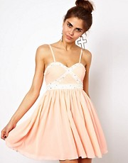 Ginger Fizz - Prom dress a fascia con diamanti