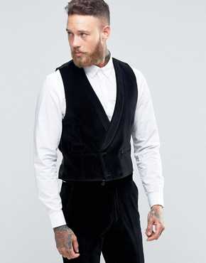 Hart Hollywood by Nick Hart Slim Waistcoat in Velvet