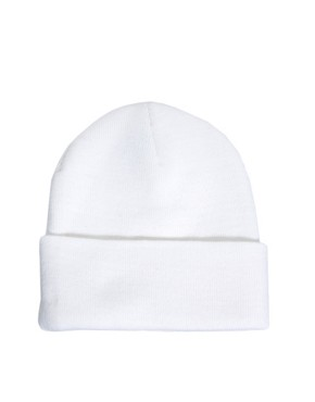 Image 4 ofSick Girl White Logo Beanie