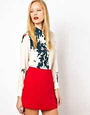 ASOS Silk Shirt in Melting Smudge Print