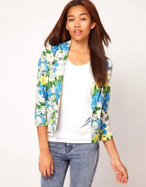Image 1 ofRiver Island Botanical Print Jacket