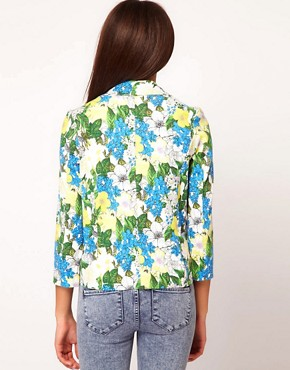 Image 2 ofRiver Island Botanical Print Jacket