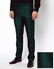 Pantaln de traje de corte slim color tnico de ASOS