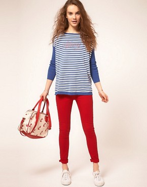 Image 4 ofA Wear Red Skinny Jean