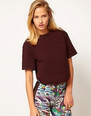 ASOS REVIVE Top with Horizontal Padding