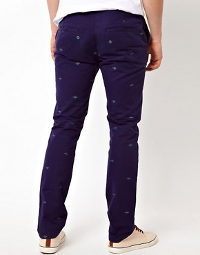 Image 2 ofASOS Slim Chino With Embroidery