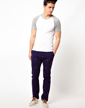 Image 4 ofASOS Slim Chino With Embroidery