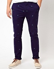 ASOS Slim Chino With Embroidery