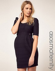 ASOS Maternity Exclusive Dress In Textured Fabric