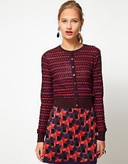 M Missoni Cropped Knitted Cardigan With Long Sleeves