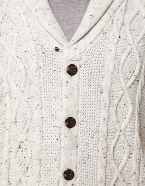Image 3 of ASOS Cable Cardigan