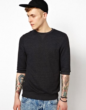 Image 1 ofASOS Sweatshirt With 3/4 Sleeves