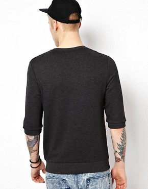 Image 2 ofASOS Sweatshirt With 3/4 Sleeves