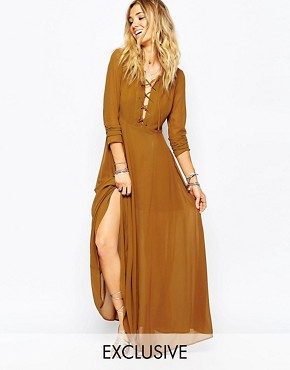 Glamorous Maxi Dress with Lace Up