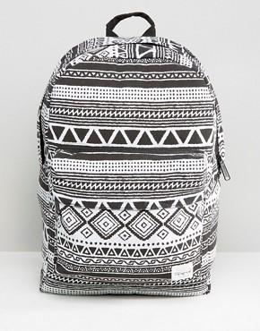 Spiral Tribal Backpack In Black