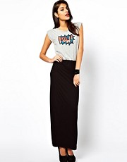 Motel Alexa Maxi Dress With Sequin Pow