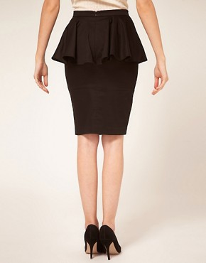 Image 2 ofASOS PETITE Exclusive Peplum Waist Skirt