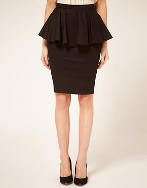 Image 4 ofASOS PETITE Exclusive Peplum Waist Skirt