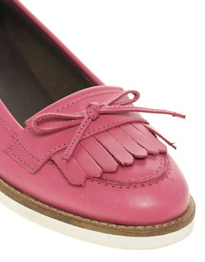 Image 2 ofASOS MINDY Leather Loafer Shoes with Contrast Sole
