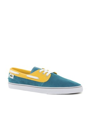 Image 1 ofLacoste L!VE Barbuda Suede Plimsolls