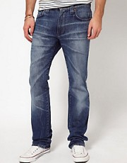 Nudie Jeans Slim Jim Straight Fit Indigo Beat