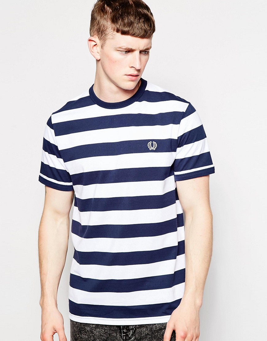 fred perry fred perry t shirt with bold stripe at asos. Black Bedroom Furniture Sets. Home Design Ideas