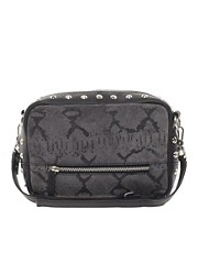 ASOS Leather Stud &amp; Snake Print Across Body Bag