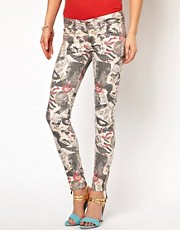 Andy Warhol By Pepe Jeans Printed Skinny Jeans