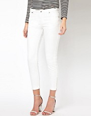 Whistles Zip Hem Ankle Skinny