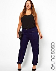 ASOS CURVE - Pantaloni multitasche di alta qualit