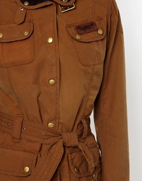 Image 3 ofBarbour Vintage International Jacket With Union Jack Lining