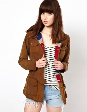 Image 1 ofBarbour Vintage International Jacket With Union Jack Lining