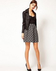 Warehouse Geo Jacquard Full Skirt