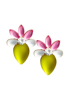 Image 1 ofASOS Frosted Flower Stud Earrings
