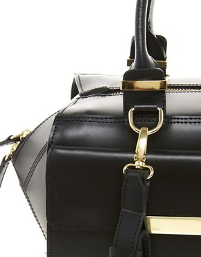 Image 4 of ASOS Leather Bar Detail Bag