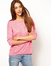 Whistles Poppy Textured Drop Hem Top