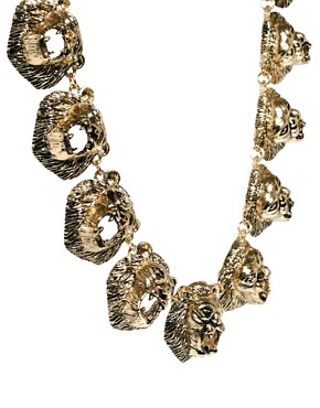 Image 3 ofASOS Lion Linked Necklace